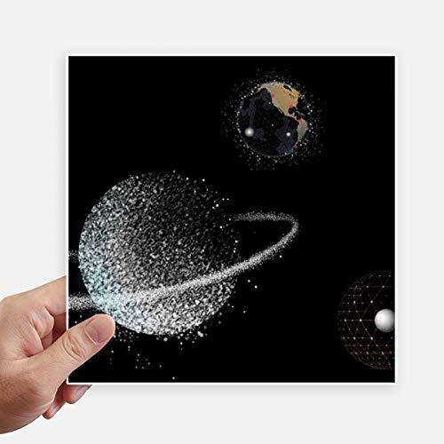 DIYthinker Univers Terre Nebulae Carré Blanc Autocollants 20CM Mur Valise pour Ordinateur Portable Motobike Decal 4Pcs 20cm x 20cm Multicolor