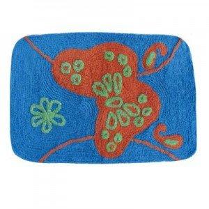 MSV Tapis Coton 40 x 60 cm, Motif Papillon