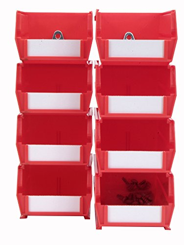 Triton Produkte 028-r Mülleimer Kits für Stecktafel Storage, Rot, 8
