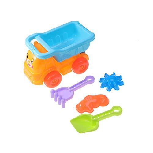 Dump Troad Playa Juguetes Set Sand Play Set Sandbox Toys Toys Sand Shovel Toys For Girls Boys 5 (camión volquete + Pala + Rake + Conch + Sun) LTLNB