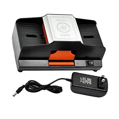 JppeamA Elektronischer Kartenmischer Kartenmischer 1-2 Decks Hochgeschwindigkeitsautomatischer Plastik-Pokerkartenmischer Spielen-Kartenspiel-Mischer