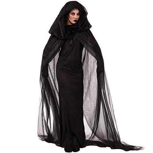 Fashion-Cos1 Disfraces de Halloween Sexy Deluxe Wonderland Queen Vampiro Malvado Bruja Cosplay Fantasia Disfraces (Size : XL)