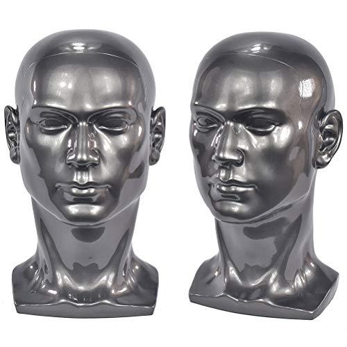 Si Fi Professioneller Mannequin-Kopf für Display-Kopfhörer, Kopfhörer, Spielkonsole, Hüte, Perücken, Schmuck, Schönheits-Styling-Werkzeug mit Befestigungsloch L30HH