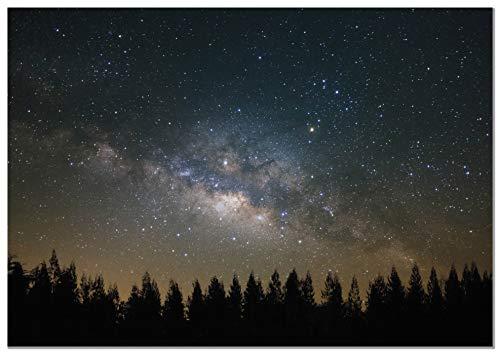 Panorama Lienzo Vía Láctea 50x35cm - Impreso en Lienzo Bastidor - Cuadros Decoración Salón - Cuadros del Espacio - Cuadros Lienzos Decorativos - Cuadros Modernos