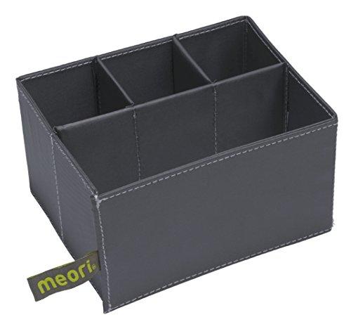 meori Einsatz 3+1 für Mini Faltboxen 14, 5x11x7, 8cm Stifteköcher Schere Schreibtischorganizer Sortieren Schminkzeug Parfüm Organizer