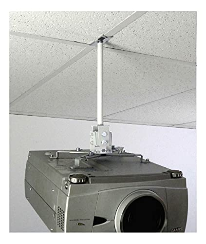 ALZO Short Suspended Drop Ceiling Video Projector Mount with Scissor Clamp for T-Bar Attachment with 10 Inch Drop Photo #2