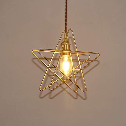 CSDM.AI Lámpara De Araña Moderna, Nórdico Simple Colgante Estrellas Luz De Hierro Forjado Lámparas De Oro para Pasillo Té Cafetería (Varias Especificaciones),Gold,D