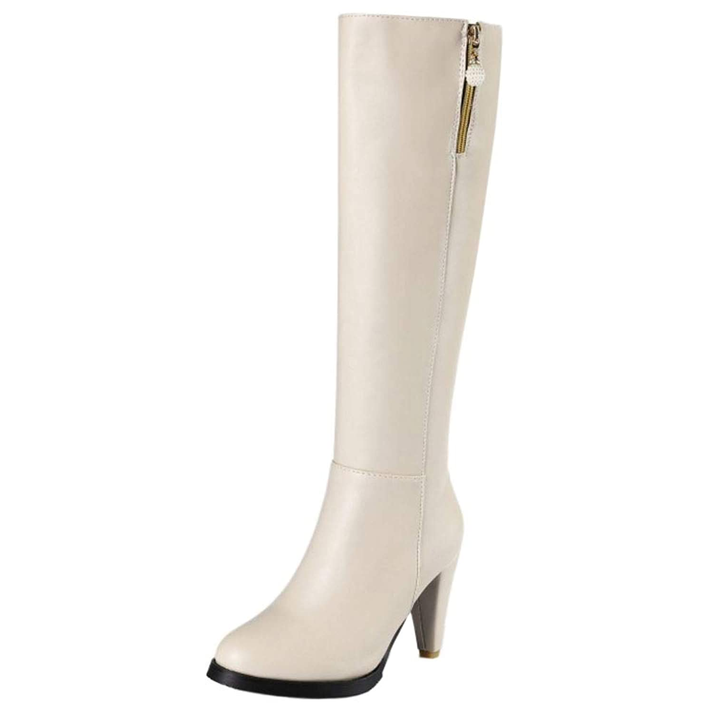 [Unm] レディーズ ファッション かかと Knee ブーツ Zip