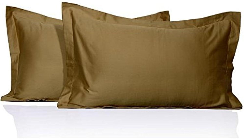 Nuevo 350 hilos de algodón egipcio fundas de almohada de algodón Euro 350TC 100% Taupe sólido