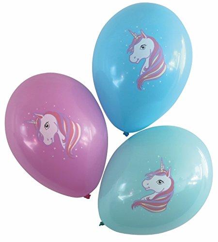 Karaloon 30024-C Ballons-Einhorn, 15 Stück