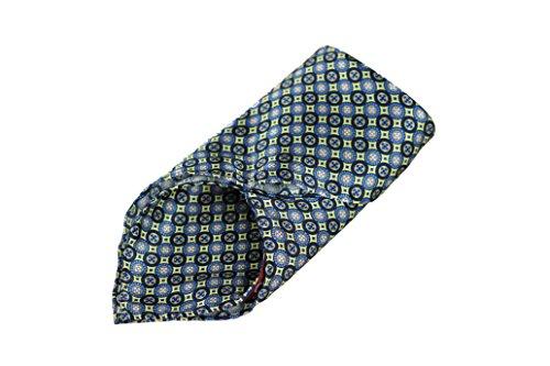 Goldsman Herren Einstecktuch handrolliert aus reiner Seide in edler Geschenk-Box. Elegantes Seiden-Tuch Paisley, Karo, Blumen-Muster zum Sakko oder Anzug. (gelb)