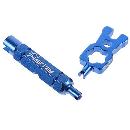 VICASKY 2 Uds Removedor de Núcleo de Válvula de Bicicleta Núcleos de Válvula Profesional Eliminación de Instalación Llave de Mano Herramienta de Desmontaje de Válvula de Neumático para