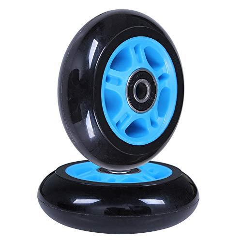 AOWISH 4 Stück Light Up Inline Skate Rollen 80mm Ripstik Rollen 80mm Outdoor Indoor LED Flash Rollerblade Ersatzrad mit Kugellager ABEC-9, blau, 80mm Diameter