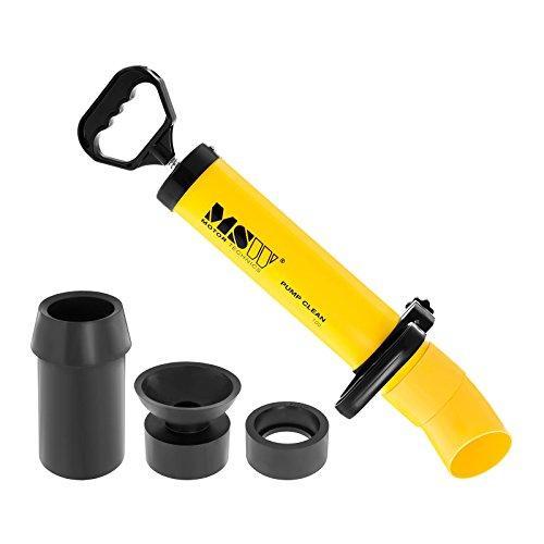 MSW Motor Technics Rohrreinigungspumpe Saug- und Druckreiniger MSW-PUMP CLEAN 100 (Innendurchmesser: 100 mm, verstellbare Griffe, inkl. 3 Gummiadapter)