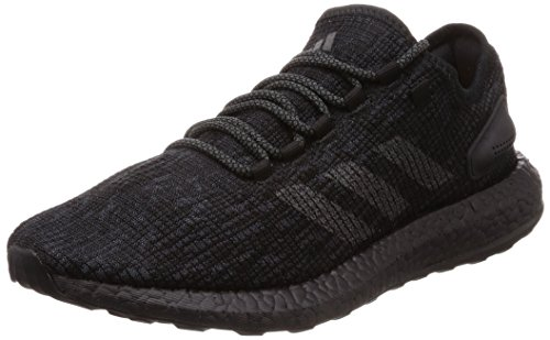 adidas Pureboost, Zapatillas de Running para Hombre, Negro (Core Black/DGH Solid Grey/Hi-Res Orange S18), 39 1/3 EU