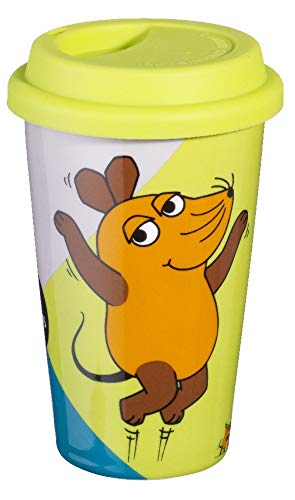 Esmeyer 302-089 MAUS Coffee-to-go Becher, Porzellan, bunt