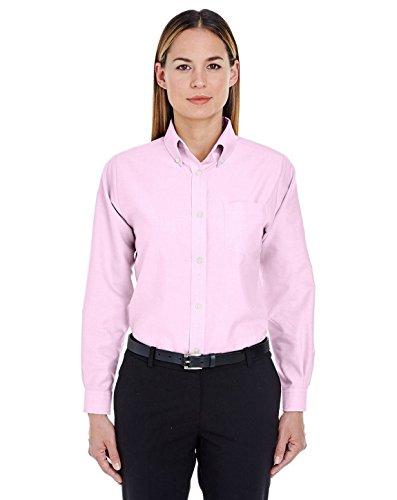 UltraClub 8990 Ladies Oxford Shirt Pink XX-Large