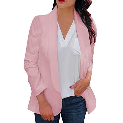 KANGMOON Jacken Damen Frauen lösen Blazer Oberseiten Lange Hülsen beiläufige Jackendamen Büro Abnutzungs Mantel Bluse Winterjacke Trenchcoat PlüSchjacke Strickjacke Jacke Windjacke