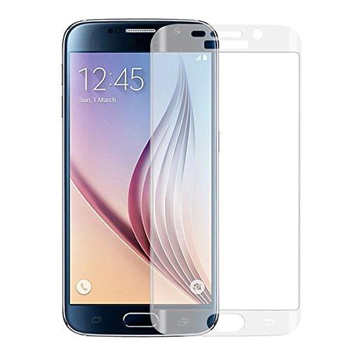 Fenrad® Full Cover Protector komplett Hartglas Schutzfolie für Samsung Galaxy S6 Edge G9250 Folie Gebogen Tempered Glass Display Schutzglas - Transparent