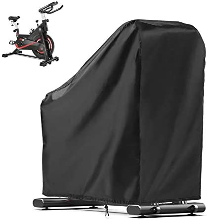 POMER Exercise Bike Cover Durable Waterproof Oxford Fabric Upright Indoor Cycling Protective product image
