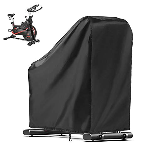 POMER Exercise Bike Cover, Indoor Cycling Peloton Bike Cover Fit for Stationary Bike, Outdoor Waterproof Upright Bicycle Protective Covers