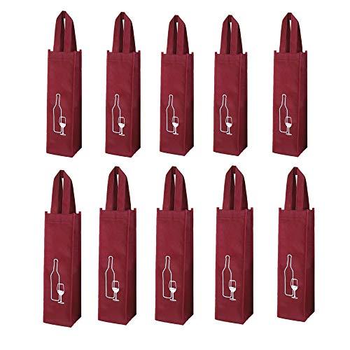 Wiederverwendbare Weinbeutel 10er Pack, Farbe: Rotwein