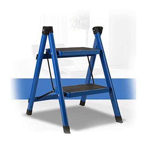 Taburete para adultos, escalera plegable, multifunción, escalera de metal, 2 pasos, escalera de metal, 4.15