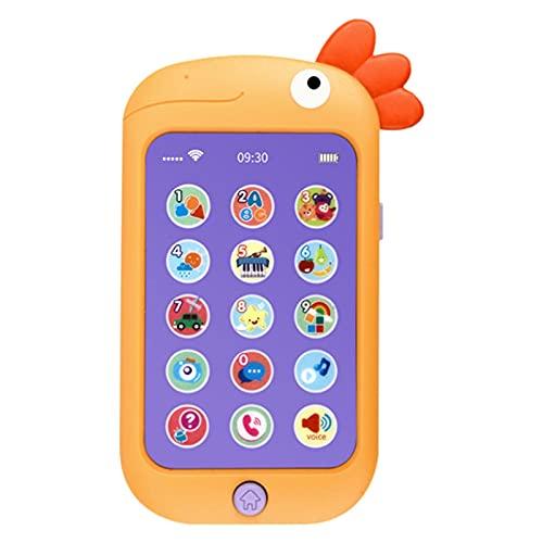El teléfono móvil de simulación de educación temprana Inteligente para bebés Puede Masticar Juguetes para Aprender el teléfono máquina de Historias de música bilingüe Chino-inglés