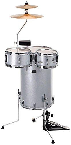 XDrum Club Drumset Cocktail Schlagzeug (inkl. Becken, Cowbell, Drumsticks und Stimmschlüssel ) Silver Sparkle