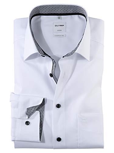 OLYMP Herren Oberhemd Langarm Luxor,Uni,Comfort fit,New Kent,Anthrazit 67,42