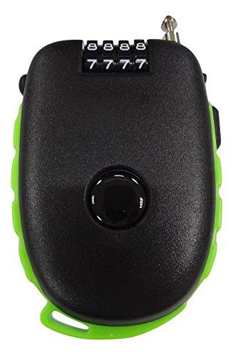 Bosvision El candado de combinación de 4 dígitos ultra seguro con un cable retraíble de 90cm para bicicletas, esquís y carritos