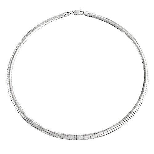 Omega Neue Cubetto Kette Schlange Kette Collier Halskette Für Damen Starke Flexible Massiv Sterling Silber