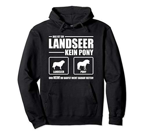 Landseer Kein Pony Hund lustiges Hundespruch Pullover Hoodie