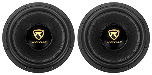 "(2) Rockville W15K9D2 15"" 10,000w Car Subwoofers Dual 2-Ohm Subs CEA Compliant"