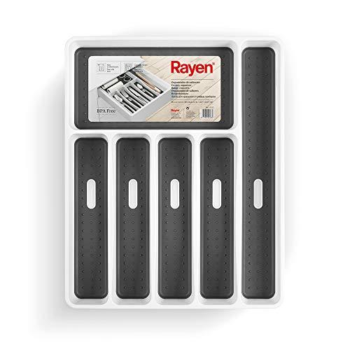 Rayen Organizador de Cubiertos, Blanco, Medida: 40 x 32,5 x 5 cm