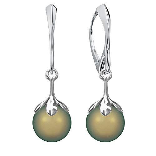 Crystals&Stones Mujer plata de ley 925 plata Perlenschliff Pearl