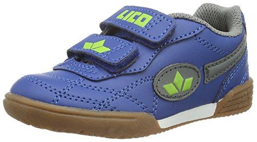 Lico Bernie V Multisport Indoor Schuhe Unisex Kinder, Marine/ Grau/ Lemon, 29 EU