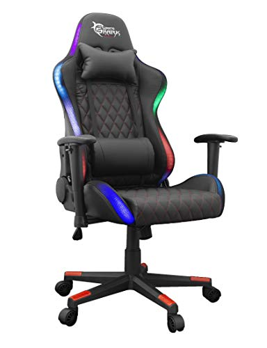 White Shark 539511 - Silla de Juegos Thunderbolt RGB, Color Negro
