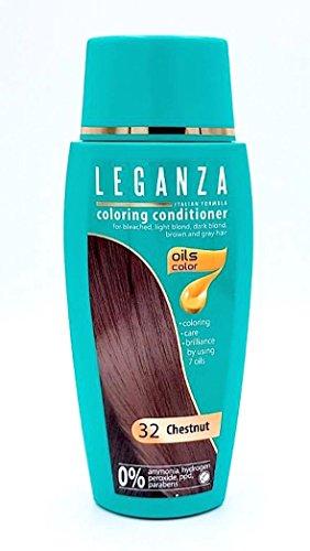 Leganza Färbender Conditioner Farbe 32 Kastanie Mit 7 Natürlichen Ölen Ammoniak und Paraben frei