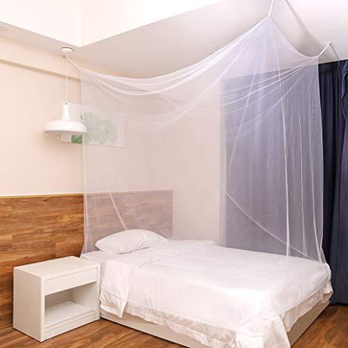 Sekey Großes Moskitonetz für Doppelbette kastenförmig 220x200x200cm | Mesh Insektennetz mit Schnelle und Einfache Installation