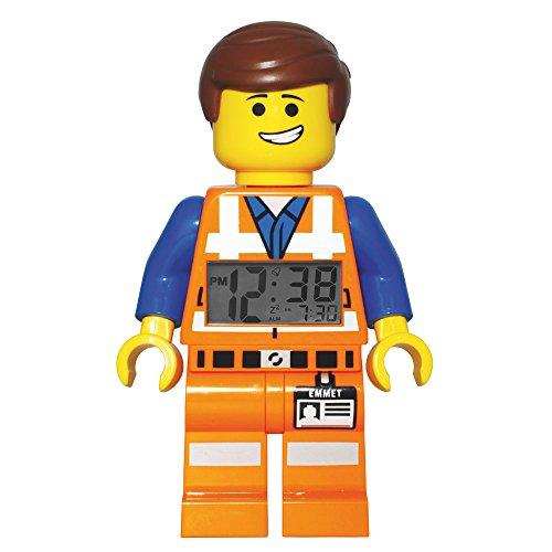 LEGO Movie - Reloj Despertador con Figura Emmet, Multicolor (9009945)