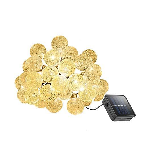 Lichtketting op zonne-energie met luchtbellen-ballen, waterdicht met 8 modi, eenvoudig te installeren voor boe tuin, tuinhek, tuin, terras, kerst, patio