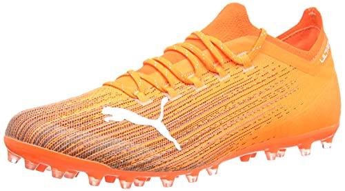 PUMA Ultra 1.1 MG, Scarpe da Calcio Uomo, Arancione (Shocking Orange Black), 42.5 EU