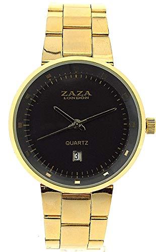 ZAZA London MMB640Gold/grey - Orologio da polso da uomo, cinturino in metallo colore oro