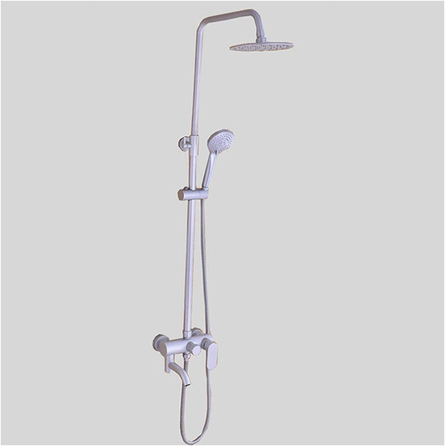 Shower LINGZHIGAN Mixer Set Aluminum alloy Bathroom Luxury Wall Mounted Rainfall Head Combo Set