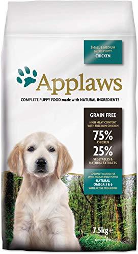Applaws honden droog voedsel Puppy small/medium Breed kip, per stuk verpakt (1 x 7,5 kg)
