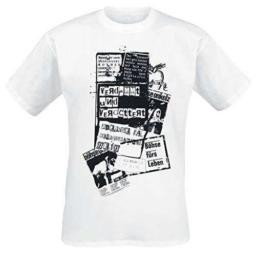 Böhse Onkelz Böhse für's Leben Männer T-Shirt weiß XL, 100% Baumwolle, Band-Merch, Bands, Nachhaltigkeit