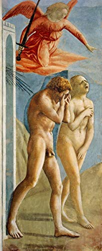 Berkin Arts Masaccio Giclee Print On Canvas-Famous Paintings Fine Art Poster-Reproduction Wall Decor(The Expulsion from The Garden of Eden) #XFB