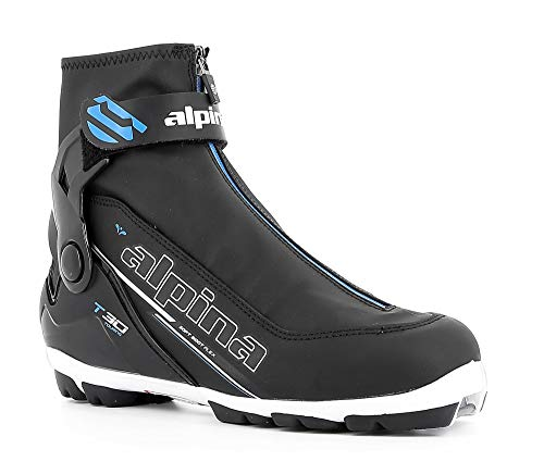 Alpina Sports T30-Eve Cross-Country Touring Ski Boots, Black/White/Blue, Size 37
