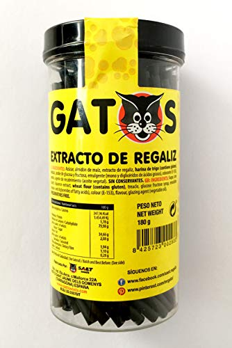 Gatos Regaliz Barritas Tarro 180 g